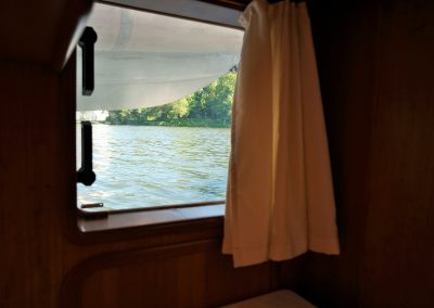 Linssen Yacht 34HT Achterkabine Fenster